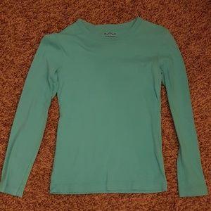 Girls plain blue/real long sleeve